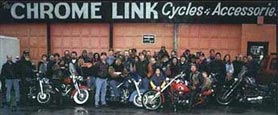 The Chrome Link cycles and accessories, custom built harley davidson motorcyles parts and service